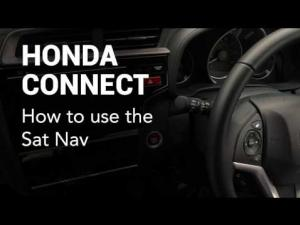 Honda Connect: How to use the sat nav