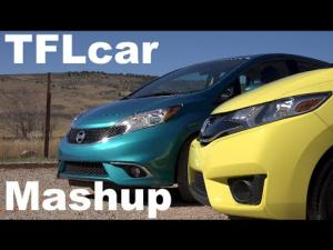 Honda Fit vs Nissan Versa Note US review by Fast Lane.