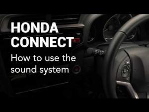 Honda Connect: How to use the sound system
